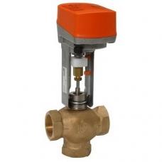 Клапан седельный, BELIMO, регулирующий, трехходовой, латунный, муфтовый, PN 16 бар, Швейцария