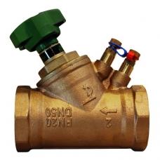 Клапан балансировочный Tecofi RC2106, ручной, латунный, муфтовый, PN 20