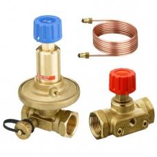 Комплект клапанов балансировочных латунь APT+ASV-M (ASV-PV+ASV-M) Ру16 ВР Danfoss