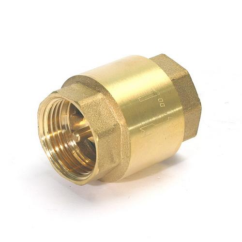 Клапан обратный латунный пружинный муфтовый, PN 10