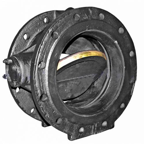 Клапан обратный 19ч24р,19ч24бр чугунный поворотный фланцевый, PN 16