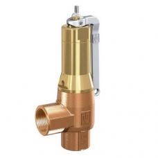 Клапан предохранительный, латунный, с узлом ручного подрыва, муфтовый, PN 16