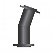Отвод ПЭ сварной фланцевый 1-15°