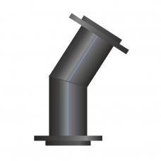 Отвод ПЭ сварной фланцевый 16-30°