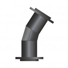 Отвод ПЭ сварной фланцевый 31-45°