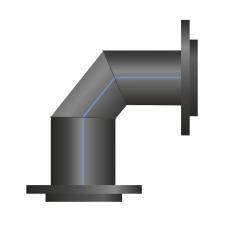 Отвод ПЭ сварной фланцевый 61-90°