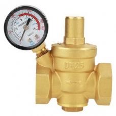 Регулятор давления , после себя, прямого действия, латунный, муфтовый, с манометром, PN 16