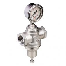 Регулятор давления RD501 (V731), после себя, прямого действия, латунный, муфтовый, с манометром, PN 16